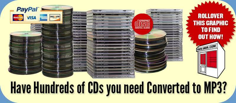 CD To MP3 Ripping - 70¢ per disc!