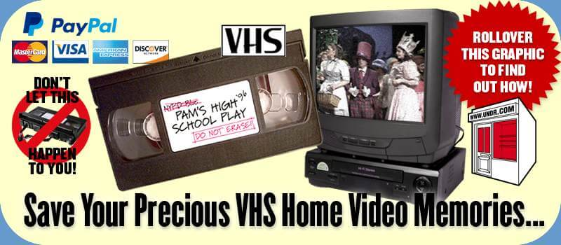VHS To DVD Conversion Services